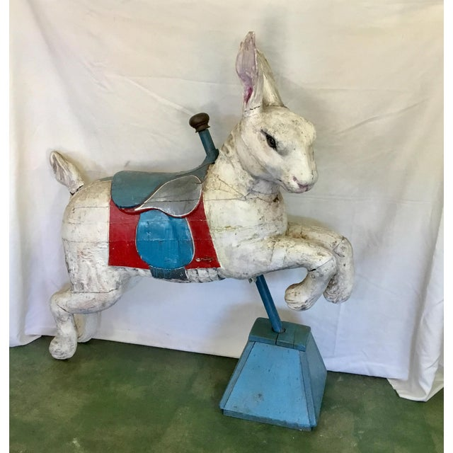 19th Century Rare French Carved Juvenile Carousel Rabbit For Sale - Image 13 of 13