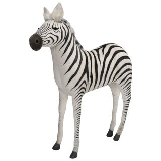 Animated Stuffed Zebra by Hansa For Sale
