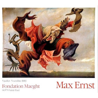 1970s Saint Paul Fondation Maeght Max Ernst Poster For Sale