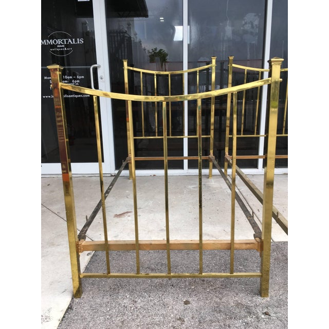 Gold Art Deco Brass Twin Bed French Single, Circa 1930 For Sale - Image 8 of 10