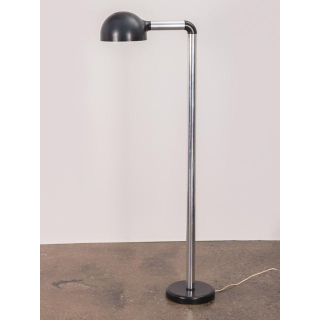 Contemporary Pair of Robert Haussmann Chrome Floor Lamps for Swisslamps For Sale - Image 3 of 11