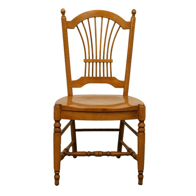 Late 20th Century Vintage Ethan Allen Casual Dining Wheat Back Dining Side Chair For Sale - Image 10 of 10