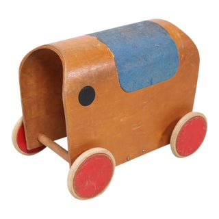 Mid-Century European Elephant Toy Car For Sale