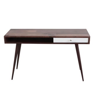 Mid-Century Modern Walnut Laptop Desk