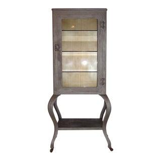 1920s Vintage Industrial Doctors Medical Glass & Storage Cabinet For Sale