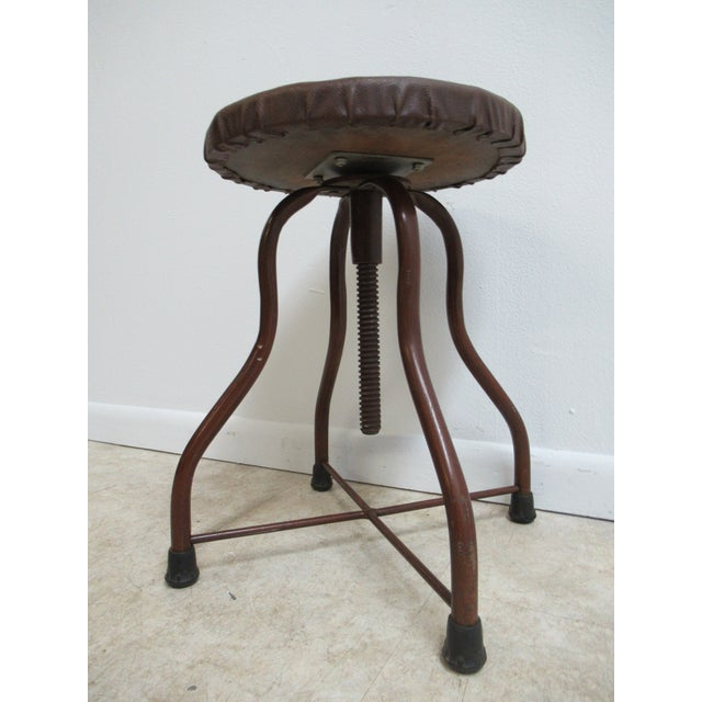 1950s Mid-Century Modern Industrial Doctor's Stool For Sale - Image 9 of 10