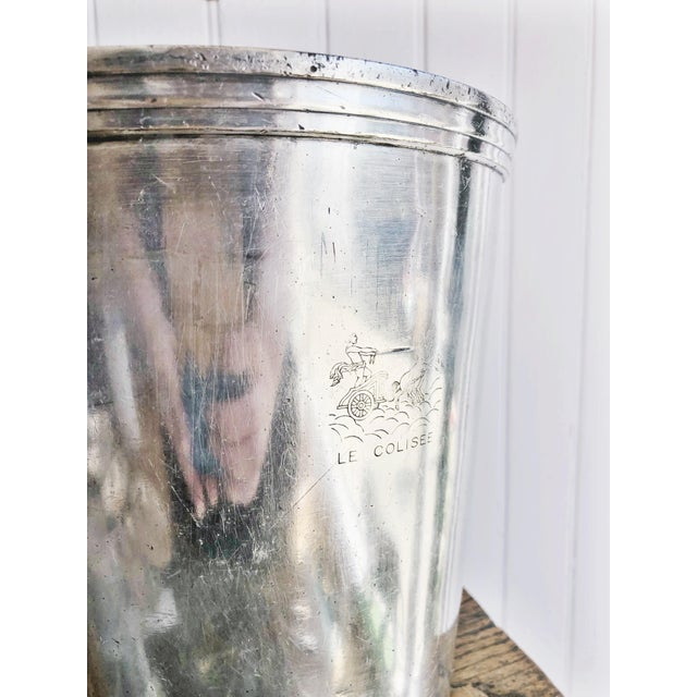 Vintage Christofle Silver Champagne Bucket From Le Colisee Hotel Paris For Sale - Image 9 of 10