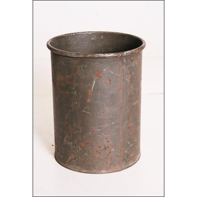 Vintage Industrial Green Metal Military Can - Image 4 of 11