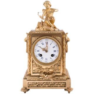 Napoleon III Bronze Dore Clock