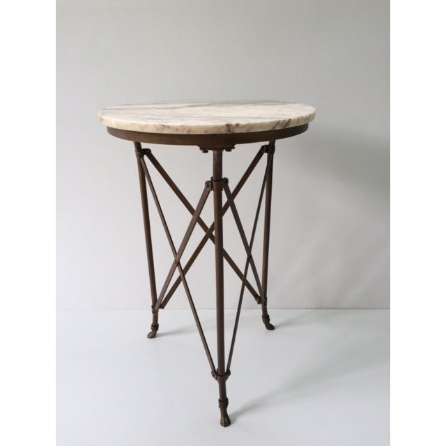French Directoire Gueridon Table With Marble Top - Image 2 of 9