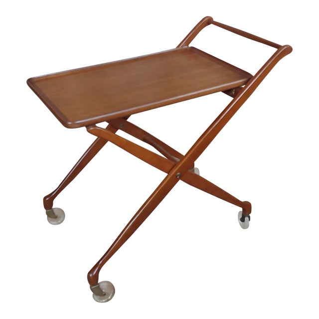 1960s Danish Mid-Century Modern Teak Serving Bar Cart For Sale