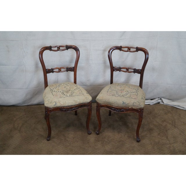 Victorian Rosewood Side Chairs- Set of 4 - Image 2 of 10