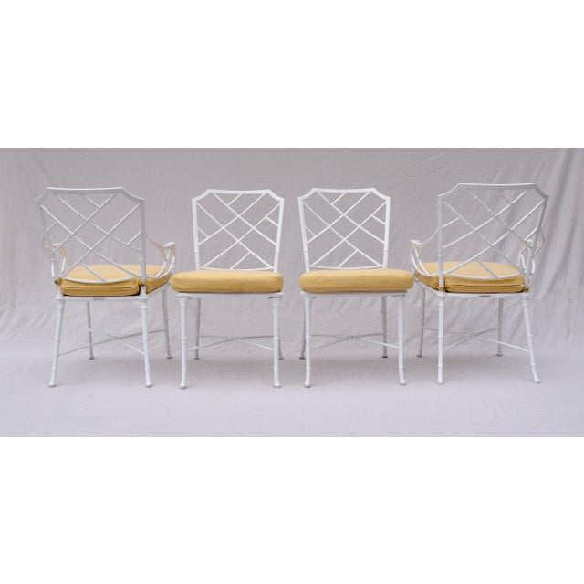 2000 - 2009 Brown Jordan Calcutta Chinese Chippendale Faux Bamboo Dining Set For Sale - Image 5 of 13