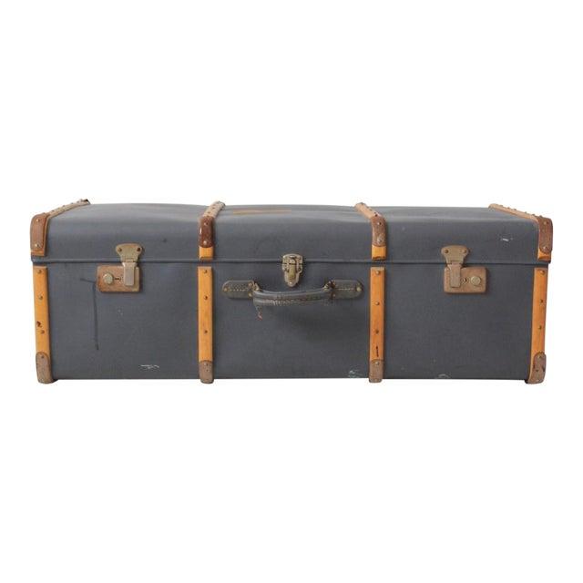 Vintage Steamer Trunk Suitcase For Sale