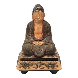 Vintage Chalkware Buddha Box