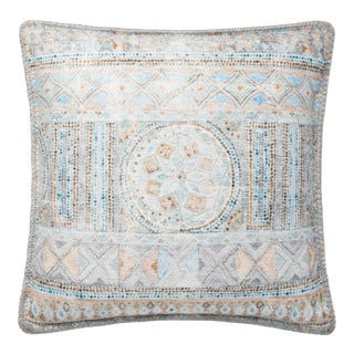 """Justina Blakeney X Loloi Blue / Multi 18"""" X 18"""" Cover with Down Pillow"""