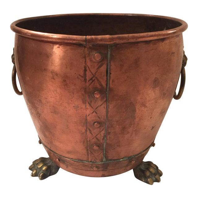 English Copper Cachepot - Image 1 of 8