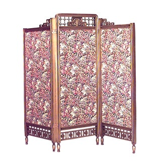 Arts and Crafts Gilt 3-Fold Screen For Sale