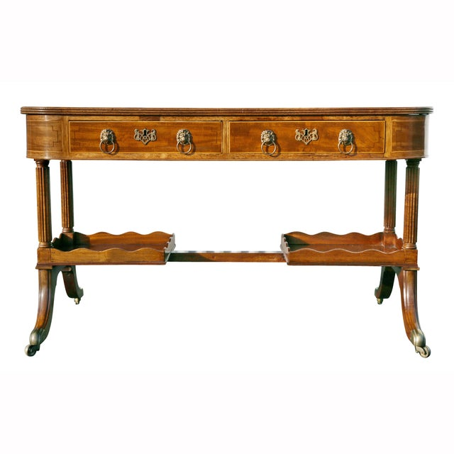 Regency Mahogany Writing Table For Sale - Image 11 of 13