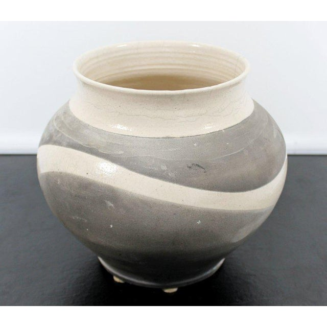 For your consideration is a marvelous, Raku ceramic piece, signed and dated on the bottom by Robert Kidd, 1986. Except for...