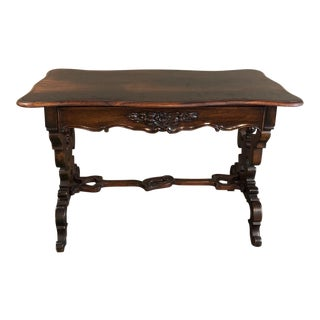 19th Century French Napoleon III Rosewood Writing Desk For Sale