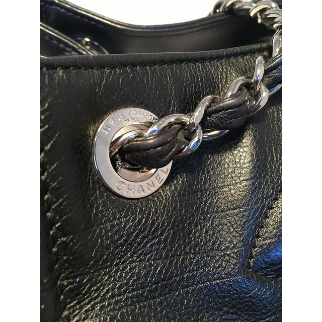 Chanel Black Leather Mini Duffle Shoulder Bag For Sale - Image 11 of 12
