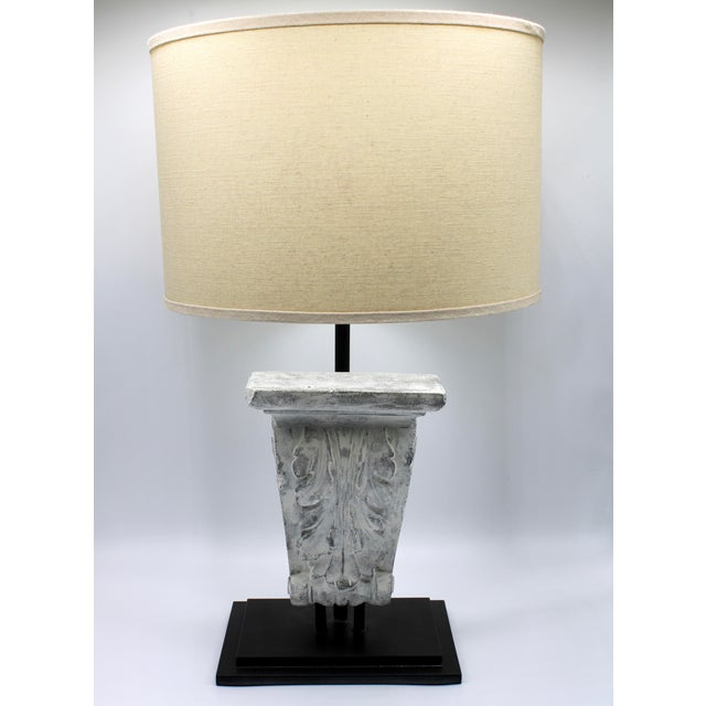 Architectural Restoration Hardware Style Corbel Lamp For Sale - Image 13 of 13