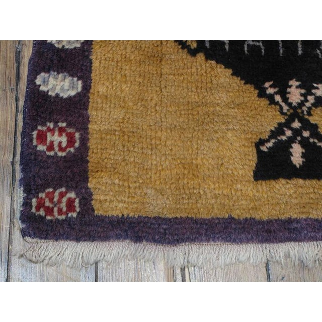 "1950s ""Five Bouquet"" Tulu Rug For Sale - Image 5 of 9"
