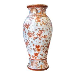 Late 19th Century Japanese Orange and White Kutani Vase For Sale