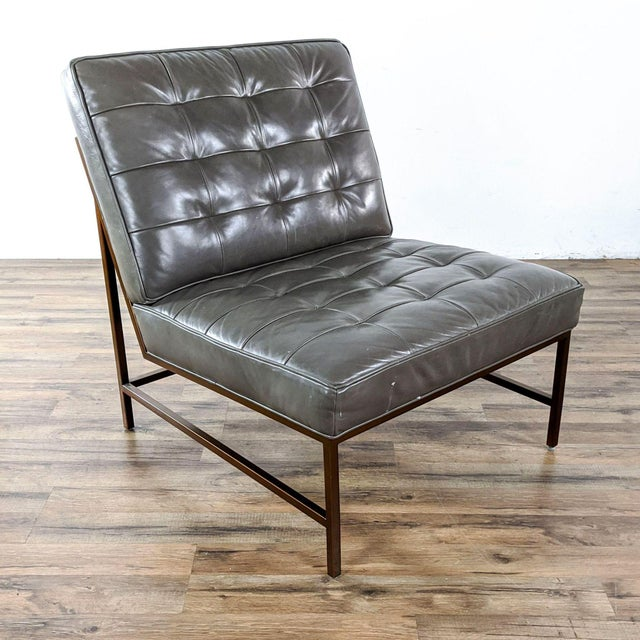 Mid-Century Modern Mitchell Gold + Bob Williams Major Leather Chairs - a Pair For Sale - Image 3 of 13