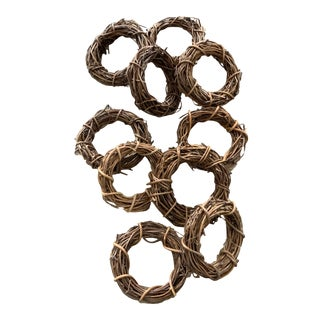 Vintage Grapevine Napkin Rings - Set of 10 For Sale