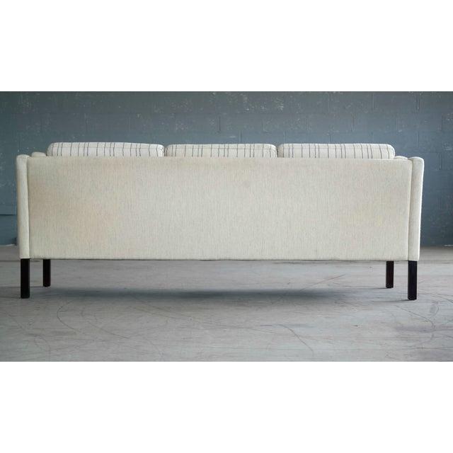 Børge Mogensen Style Three-Seat Sofa Model 2423 by Mogens Hansen - Image 7 of 9