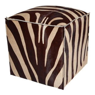 Brown & Beige Flanged Cube Zebra For Sale