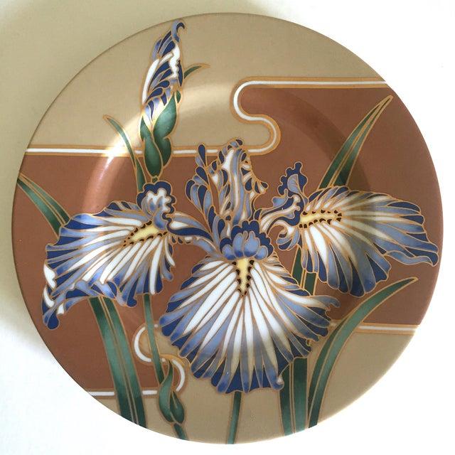Asian Fitz & Floyd Japan Vintage Contemporary Modernist Floral Porcelain Dessert Plates - Set of 3 For Sale - Image 3 of 11