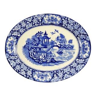 Chinoiserie-Inspired English Transferware Decorative Platter