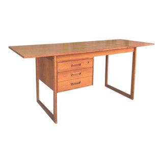 Midcentury Danish Modern Teak Desk Arne Vodder For Sale