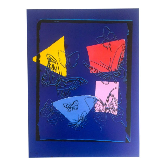 """Andy Warhol Estate Rare Vintage 1991 Collector's Pop Art Lithograph Print """" Butterflies - Vanishing Animals """" 1986 For Sale"""