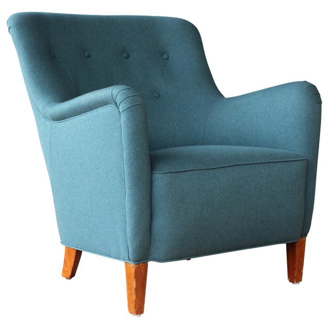 Dark Teal Armchair by Ernest Race, England, 1940s For Sale - Image 12 of 12