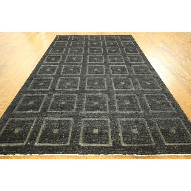 "Square Black Gabbeh Kashkuli Rug - 6'8"" x 10' - Image 3 of 10"