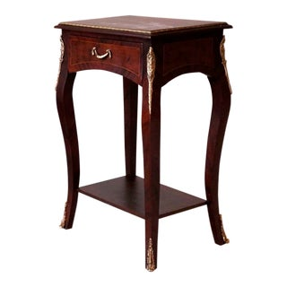 "Louis XV Style ""Parquetry Table"", Antique Vintage Furniture Reproduction, Victorian French Furniture For Sale"