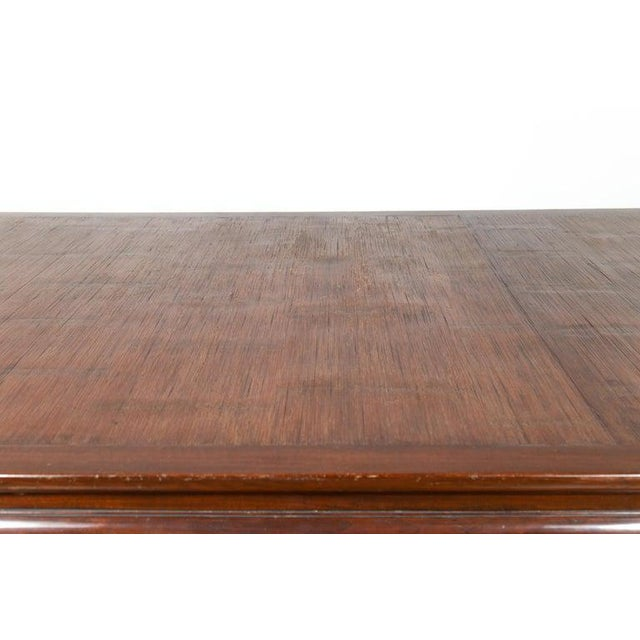 Brown Vintage Thai Open Mat Top Inlay Dining Table For Sale - Image 8 of 11