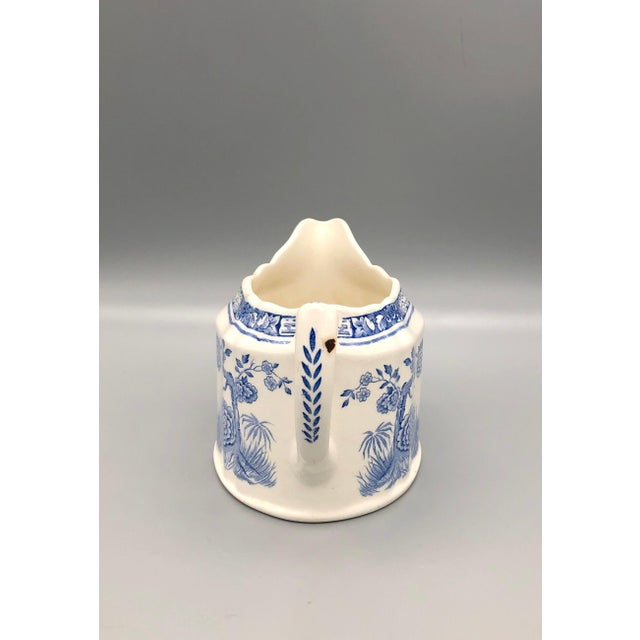 Blue Blue and White Furnivals Quail 1913 Pottery Teapot, Creamer and Sugar Bowl Set For Sale - Image 8 of 13