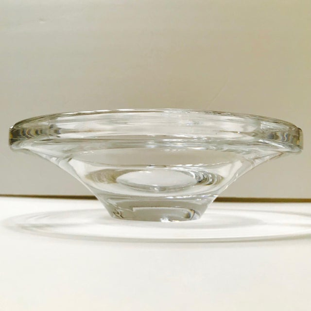 Swedish Mid-Century Modern Crystal Ashtray by Lindstrand for Kosta Boda, 1960's For Sale In Miami - Image 6 of 13