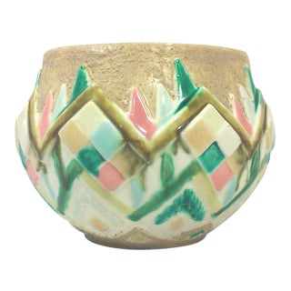 Aztec Style Ceramic Pastel Sandstone Planter