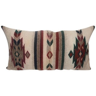 Geometric Navajo Indian Weaving Pillow For Sale