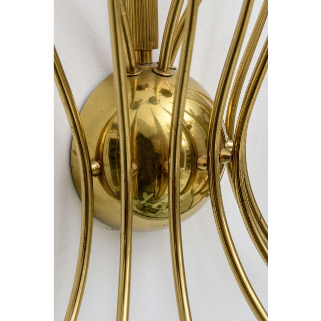 Large Scale 1950's Italian Brass Candle Sconce For Sale - Image 10 of 11