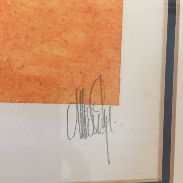 """""""Butterfly"""" Orange & Red Serigraphs - A Pair For Sale - Image 4 of 11"""