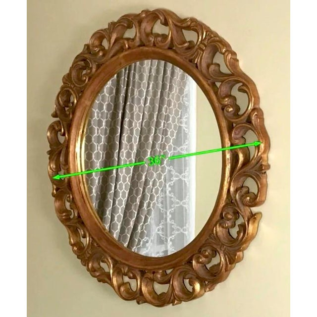 Lovely George II carved work of art. The unique handmade framing of this round accent mirror beechwood and designs come...