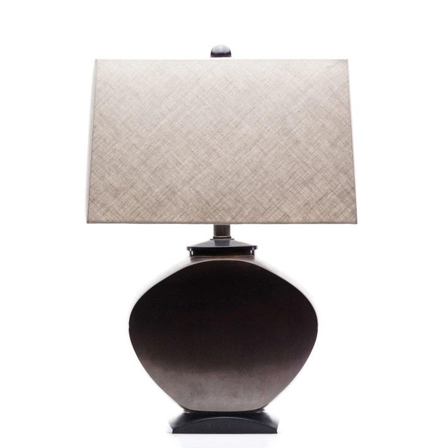 Lawrence & Scott Audrey Table Lamp in Brass For Sale In Seattle - Image 6 of 6