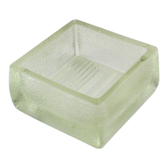 Le Corbusier for Lumax Molded Glass Catchall Ashtray For Sale